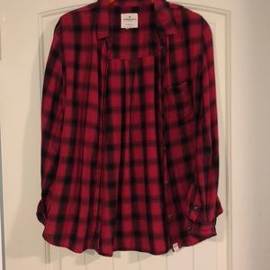American Eagle red flannel